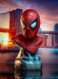 Legends in <b>3D</b> Comic <b>Marvel Spider</b>-<b>Man</b> 1/2 Scale Bust - Gentle ...