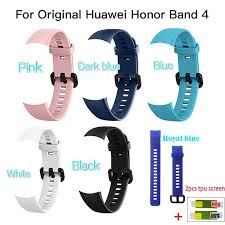Silicone Wrist <b>Strap</b> For Huawei <b>Honor Band 4</b> Standard Version ...