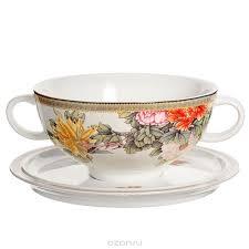 """<b>Суповая чашка</b> """"Японский сад"""" на <b>блюдце</b> — купить в интернет ..."""