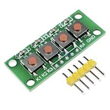 <b>3pcs 1x4 4</b> Keys Button 5 Pin Keypad Keyboard Module Mcu ...