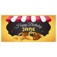 bakery happy birthday banner personalized party backdrop paper blast bakery happy birthday banner 03 mockup