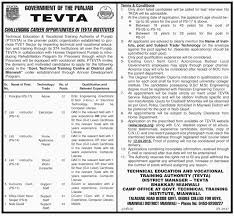 recent job ads principal lab instructor accounts clerk store  principal lab instructor accounts clerk store keeper naib qasid jobs in technical education and vocational training authority mianwali government of