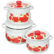 <b>Набор эмалированной посуды Сибирские</b> товары Маки 11 ...