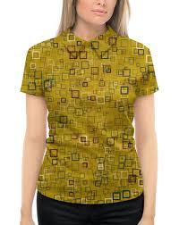 """Рубашка Поло с полной запечаткой """"<b>Квадраты</b>"""" #2710789 от ..."""