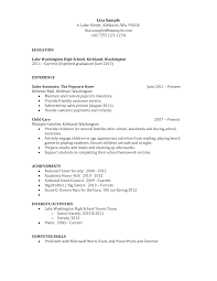 high school objective resume cipanewsletter good resumes for high school students template resume samples for