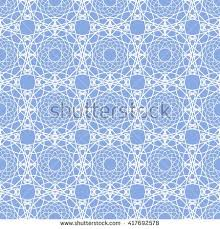 Lace seamless pattern. Abstract blue vector <b>background</b> with white ...