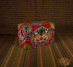 Face of Glory Nepali Hand-Painted <b>Wooden Treasure Chest</b> Jewelry ...