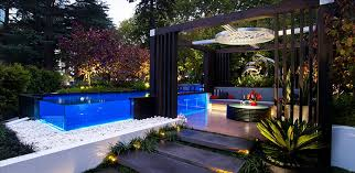 Small Picture garden design with bold uamp beautiful contemporary swimming pool