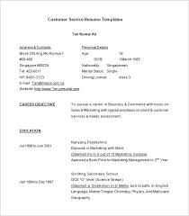 Customer Service Resume Template        Free Samples  Examples     Template net Free Download Call Center Customer Service Resume