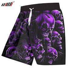 2019 <b>UJWI</b> Board Shorts Men <b>Quick Dry</b> Polyester Cool Print Purple ...
