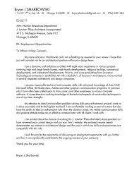 example of cover letter for architecture position interior design architect interrupted cover letter example