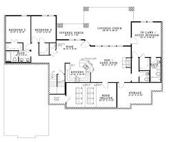 images about House plans on Pinterest   Floor plans  House    Lower Floor Plan of Craftsman Ranch House Plan   In law suite  nd