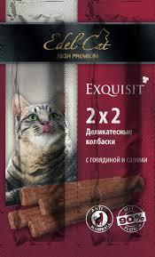 <b>Лакомство Edel Cat</b> деликатесные колбаски мини с говядиной и ...