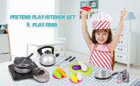 Kids Kitchen Pretend Play Set - 29Pcs Kitchen Toys ... - Amazon.com