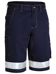 3M taped 8 pocket cool light weight cargo shorts with contrast <b>stitching</b>