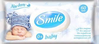 <b>Smile Baby</b> Влажные салфетки с клапаном New Born 60 шт ...