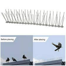 <b>5Pcs</b> Anti Bird Spikes Wide <b>Stainless</b> Steel Wire <b>Pigeon Repellent</b> ...