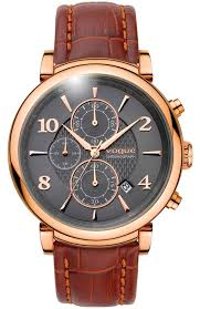 <b>Men's</b> Watch VOGUE <b>Aramis</b> Rose <b>Gold</b> Brown Leather ...