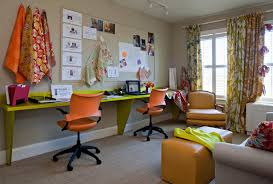 funky second bedroomhome office workstation view contemporary home office bedroom home office view