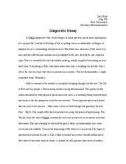 diagnostic essay revised   zack hunt eng  prof bickersteth