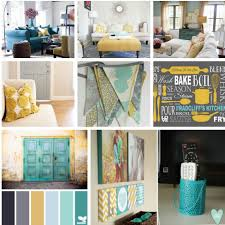 Teal Color Schemes For Living Rooms Gray Teal And Yellow Color Scheme Decor Inspiration