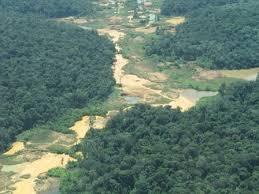 Resultado de imagen para daño ambiental de la explotacion minera en bolivar