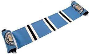 <b>Manchester City</b> FC Bar Scarf (One Size) (Blue/<b>Black/White</b> ...