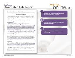 write online lab report writing guide parts of a lab report lab report sample methods and materials