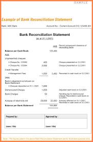 bank reconciliation resume format cipanewsletter 11 bank reconciliation statement format bussines proposal 2017