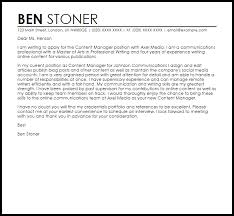 account manager cover letters   Template happytom co