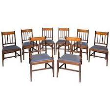 hepplewhite shield dining chairs set: set of eight george iii period mahogany dining chairs