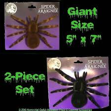 Realistic Flocked <b>GIANT</b> TARANTULA SPIDERS <b>Scary Horror</b> ...