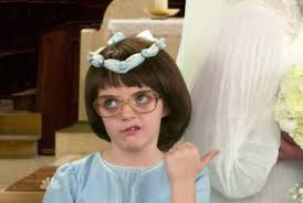be Tina Fey's daughter Alice playing the young, exasperated Liz. Cute!