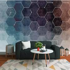 3D Wall Paper Modern Fresh Abstract Geometric Figures Murals For ...