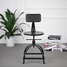 <b>iKayaa</b> Retro <b>Bar</b> Chairs <b>Metal Industrial Bar</b> Stools Swivel ...