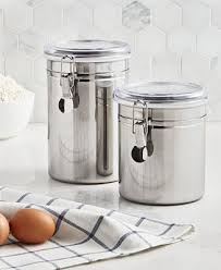 Martha Stewart Collection <b>Set of 2</b> Food Storage Canisters, Created ...
