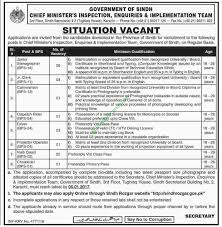 chief minister s inspection enquiries implementation team sindh chief minister s inspection enquiries implementation team sindh jobs sunday 18th 2016