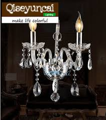 Qiseyuncai LED Candle K9 <b>Crystal wall</b> lamp <b>Simple modern</b> 1 or 2 ...