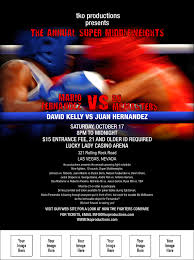 event flyer boxing event flyer