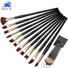 BGLN <b>6Pcs</b> Super Quality Nylon Hair <b>Painting</b> Brushes <b>Set</b> Long ...
