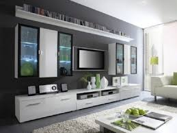 living room furniture white tv entertainment center room tv wall display  stunning flat tv on the gray wall ideas living r