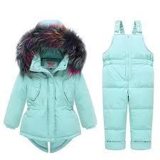 Baby Kids <b>Girl Clothing</b> Sets 25 <b>Degree</b> Russia Winter Colored Fur ...
