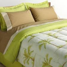 pc tapestry jacquard palm tree click for tropical palm tree queen comforter set  piece bed in a bag