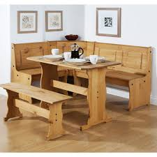 unfinished solid pine hardwood breakfast nook kitchen table with corner benches for small dining room remodel breakfast furniture
