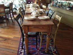 harvest table solid wood farmhouse dining