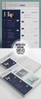 new professional cv resume templates cover letter design portfolio resume template