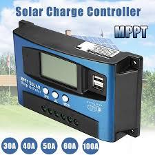 40-100A MPPT <b>Solar Panel</b> Regulator Charge Controller <b>12V</b>/<b>24V</b> ...