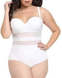 Creabygirls <b>Womens</b> Plus Size <b>Monokini</b> Bikini <b>Hollow</b> Out Halter ...