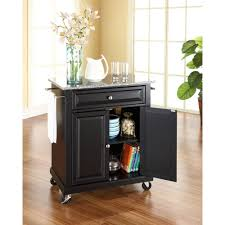 kitchen island mobile: w solid granite top mobile kitchen island cart in