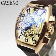 CASENO Automatic <b>Mechanical Men Watch</b> Fashion Skeleton ...